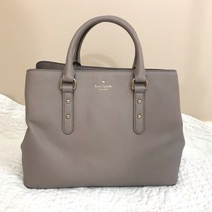 KATE SPADE Larchmont Ave Evangeline Satchel Gray